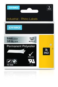 DYMO RHINOPRO 3/8IN METALLIZED PERM TAPE (18485)