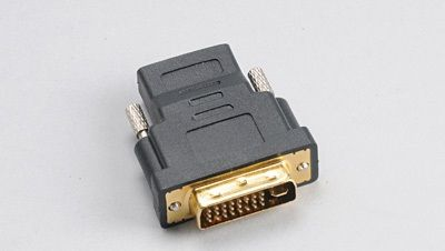 AKASA DVI Male to HDMI Femaleadapter with gold plated contacts (AK-CBHD03-BK)