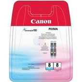Canon CLI-8 PC/PM Multipack - 2-pack - fotocyan, fotomagenta - original - blister - blekkbeholder - for PIXMA iP6600D, iP6700D, MP950, MP960, MP970, Pro9000, Pro9000 Mark II (0624B026)