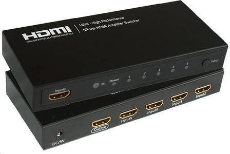 MICROCONNECT HDMI Switch 5 IN - 1 OUT (MC-HMSW501)