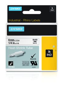 DYMO RHINOPRO 1/4IN WHT HEAT SHRINK TUBES (18051)