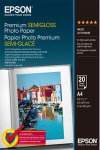 EPSON Premium semi gloss photo paper inkjet 251g/m2 A4 20 sheets 1-pack (C13S041332)
