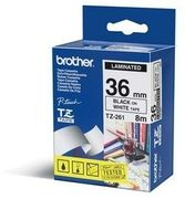 Brother 36MM Black On White Tape