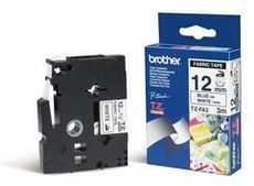 BROTHER P-Touch TZE-FA3 blue on white textile 12mm
