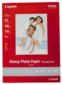 CANON Glossy Photo paper A4 10 Sheets (0775B076)