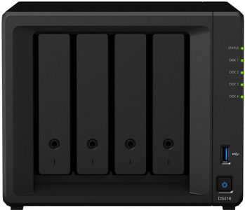 SYNOLOGY DS418 4BAY 1.4 GHZ QC 2X GBE 2GB DDR4 2X USB 3.0              IN EXT (DS418)
