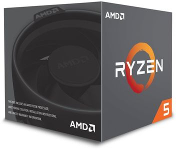 AMD Ryzen 5 2600 with Wraith Stealth - Pinnacle Ridge CPU - 3.4 GHz - Socket AM4 - 8 kerner -  Boxed (PIB - med køler) (YD2600BBAFBOX)