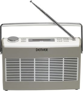 DENVER DAB+/FM radio with LCD display (DAB-37GREY)