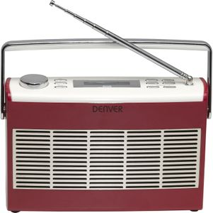 DENVER DAB+/FM radio with LCD display (DAB-37RED)