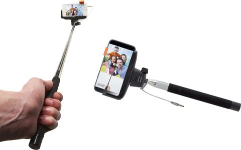 DENVER Selfie stick with AUX conn. (SAX-10BLACK)