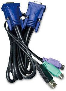 PLANET 3.0M USB KVM Cable w built-in (KVM-KC1-3)