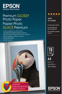 EPSON S042155 Premium glossy photo paper inkjet 255g/m2 A4 15 sheets 1-pack (C13S042155)