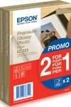 EPSON Premium glossy photo paper inkjet 255g/m2 100x150mm 2x40 sheets 1-pack BOGOF (C13S042167)