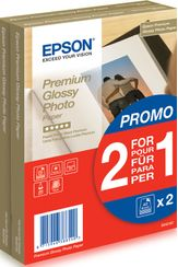 EPSON Epson Premium Glossy Photo Paper 10x15cm 40 ark (2 for 1)