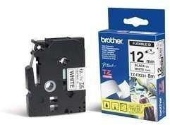 BROTHER 12MM Black On White Flexible ID (TZeFX231)