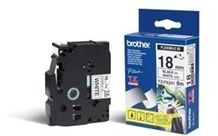 BROTHER TZEFX241 special tape cassette 18mmx8m white black laminate for P- touch 210E 220 300 310 340 340C