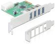 DELOCK PCI Expr Card 4x USB3.0 ext +LowProfile