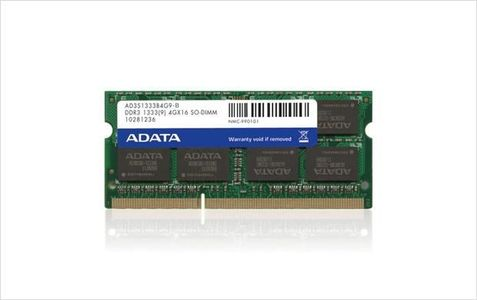 A-DATA 2GB DDR3 SO DIMM 1333 256x8 (AD3S1333C2G9-S)