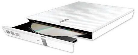 ASUS SDRW-08D2S-U LITE WHITE EXTERNAL 8X SLIM DVD RECORDER    IN EXT (90-DQ0436-UA221KZ)