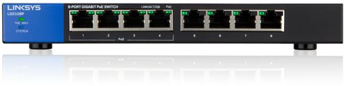LINKSYS BY CISCO LGS108P Unmanaged Switch PoE 8p (LGS108P-EU)