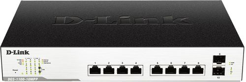 D-LINK 10-Port Gigabit EasySmart Switch (DGS-1100-10MP)