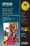 EPSON Value Glossy Photo Paper 10x15cm 20 sheets x2 (BOGOF) (C13S400044)