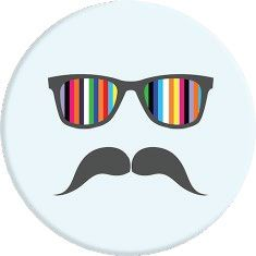 POPSOCKETS Mustache Rainbow Holder og stativ (101686)