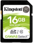 KINGSTON 16GB SD Canvas Select Class 10 UHS-I speed upto 80MB/s read