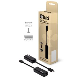 CLUB 3D Club3D Adapter USB 3.1 Typ C > DP 1.2 4K60Hz UHD aktiv St/Bu retail (CAC-1507)