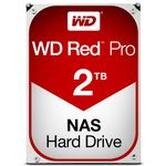 WESTERN DIGITAL WD Red Pro 2TB SATA 6Gb/s 64MB Cache Internal 8.9cm 3.5inch 24x7 7200rpm optimized for SOHO NAS systems 1-24 Bay HDD Bulk