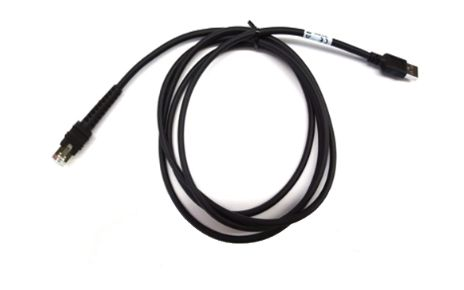 ZEBRA CABLE - SHIELDED USB: SERIES A CONNECTOR,  7FT. (2M), STRAIGHT, BC 1.2 (HIGH CURRENT), -30C (CBA-UF1-S07ZAR)