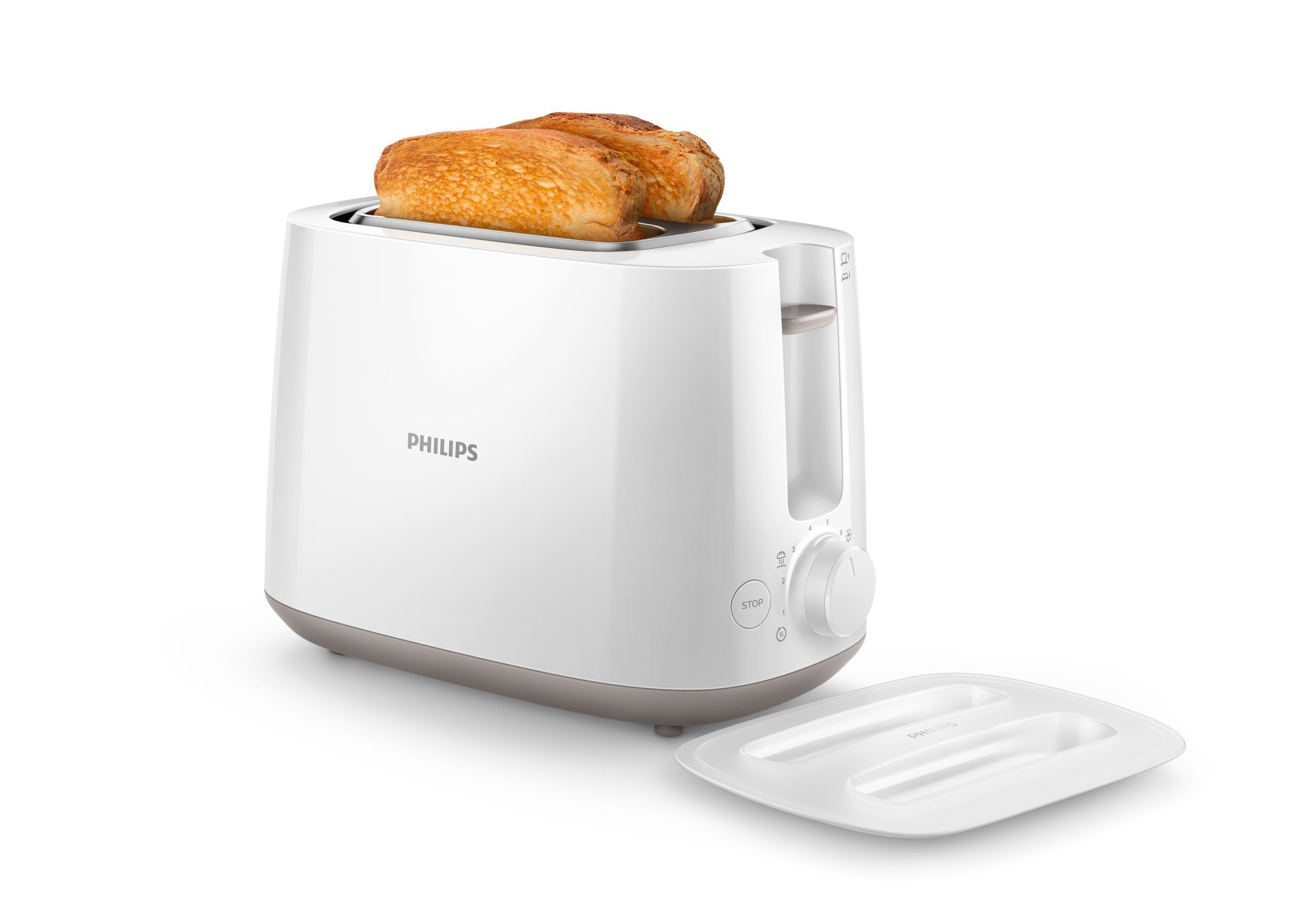 Philips Toaster HD2582/00White (HD2582/00)