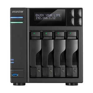 ASUSTOR AS6204T 4-Bay NAS Celeron Quad-Core 8GB SO-DIMM DDR3L GbE x 2 USB 3.0 Type Ax3&USB 3.0 TypeC x1 WoW System Sleep Mode AES-NI (AS6404T)