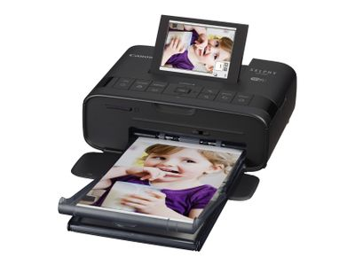 CANON SELPHY CP1300 black Photo printer Display 8cm 3inch Wi-Fi Printing Airprint Memory Card Slots USB (2234C002)