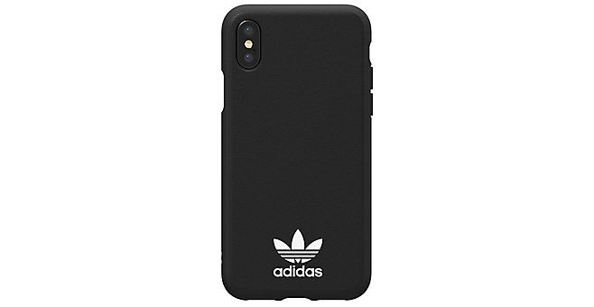 outlet 812a6 7cef2 ADIDAS - Originals Moulded iPhone X Back Cover Zwart/Wit