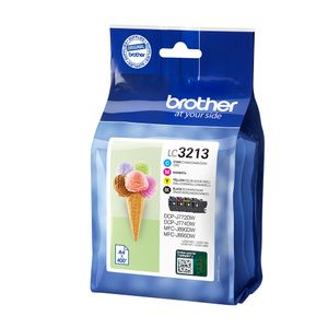 BROTHER LC3213VAL Ink Cartridge Value Pack B/C/M/Y Factory Sealed (LC3213VAL)