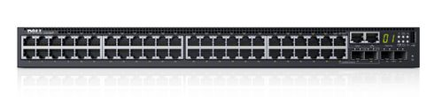 DELL NETWORKING S3148P L3 POE+ 48X 1GBE 2XCOMB 2X10GBE SFP+ FXD PRT IN CPNT (210-AIMP)