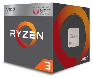 AMD Ryzen 3 2200G Wraith Stealth - Raven Ridge CPU - 3.5 GHz -  AM4 - 4 kerner -  Boxed (PIB) (YD2200C5FBBOX)