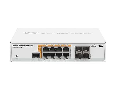 MIKROTIK Cloud Router Switch (CRS112-8P-4S-IN)