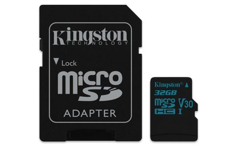 KINGSTON 32GB microSDHC Canvas Go 90R/45W U3 UHS-I V30 Card + SD Adapter (SDCG2/32GB)
