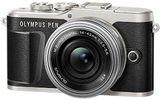 OLYMPUS E-PL9 Pancake Zoom Kit Sort, Wifi, Bluetooth,  16.1 MP, + M.ZUIKO DIGITAL ED 14-42mm f/3,5-5,6 EZ