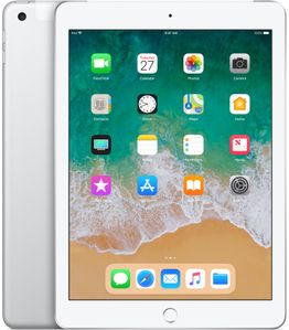 APPLE iPad 9.7 128GB (2018) 4G silver DE (MR7D2FD/A)