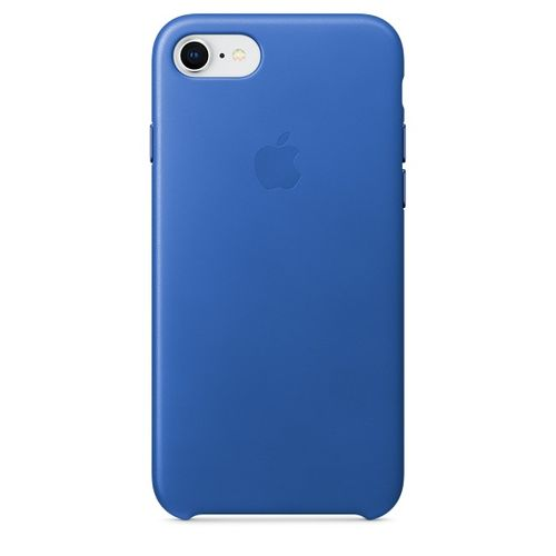 APPLE iPhone 8/7 Leather Case - Blue (MRG52ZM/A)