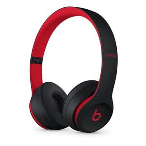 APPLE BEATS SOLO3 WIRELESS ON-EAR HEADPHONES DEFIANT BLACK-RED     IN WRLS (MRQC2ZM/A)