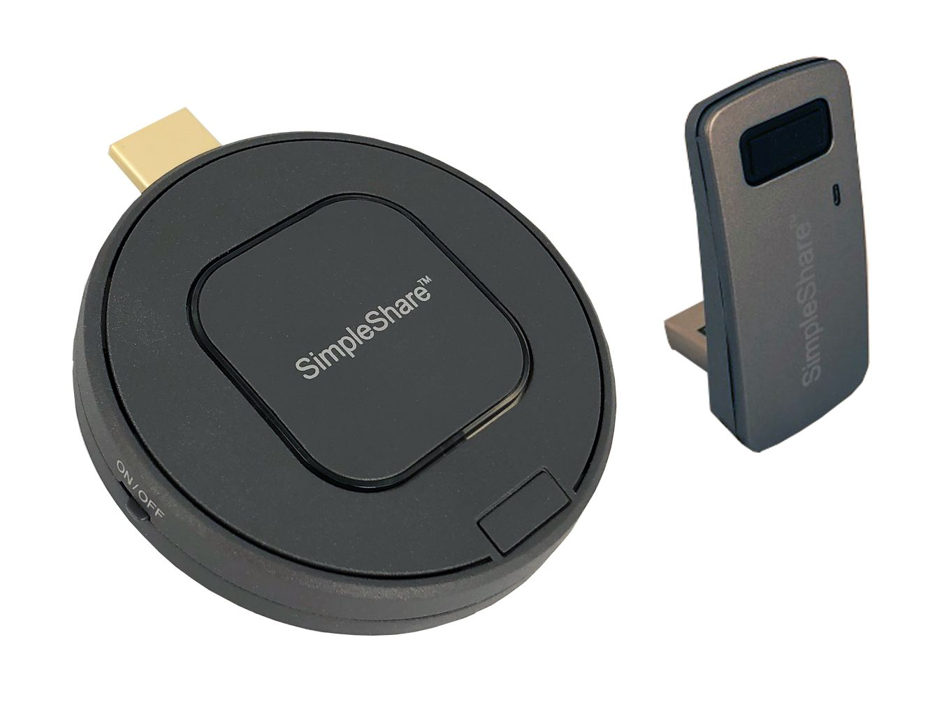 INFOCUS SimpleShare Wireless Transmitter with Paired USB Touch Adapter - Trådløs video/lyd/USB-forlenger - 802.11n, WiFi - opp til 15 m - for P/N: INA-SIMINT1 (INA-SIMTTM1)