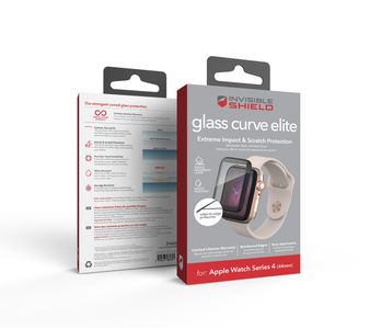 ZAGG / INVISIBLESHIELD GLASS CURVE ELITE FULL SCREEN APPLE WATCH (44 MM) (200102449)