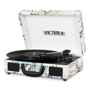 VICTROLA Case Turntable Map Print (VSC-550BT-P4-EU)
