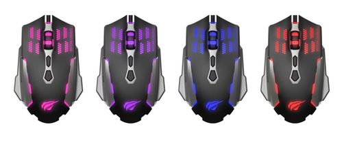 HAVIT Gaming mouse wired Blac/red (HV-MS765)