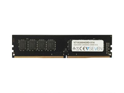 VIDEO SEVEN 4GB DDR4 2400MHZ CL17 NON ECC DIMM PC-419200 1.2V 288PIN X16 MEM (V7192004GBD-X16)