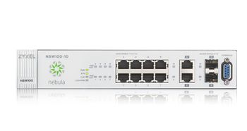 ZYXEL NSW100-10 8x port GbE Nebula Cloud Managed Switch with 2x GbE Uplink (NSW100-10-EU0101F)